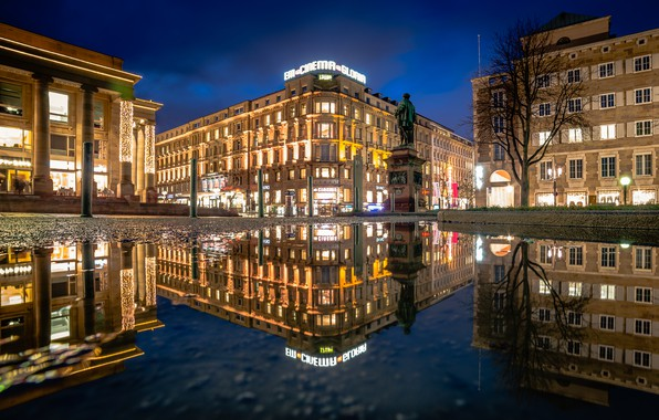 Picture lights, the evening, Germany, area, Stuttgart