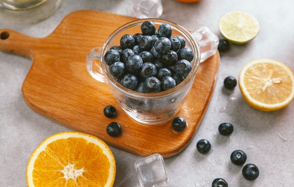 Picture berries, orange, ice, blueberries, Cup, lime, ice, fruit, citrus, slices, cup, fruit, orange, lime, citrus, …