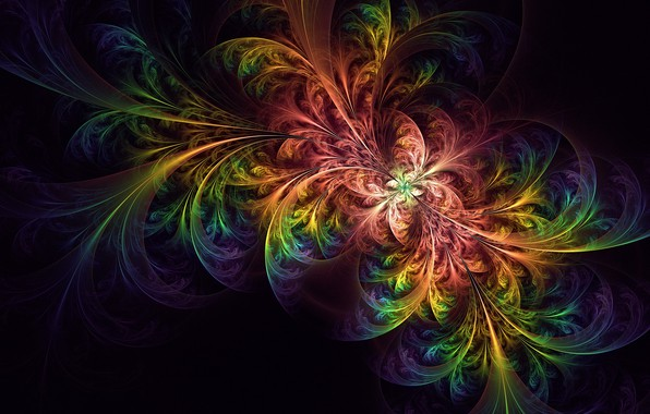 Picture colorful, abstract, wallpaper, glow, abstraction, tangled, fractal