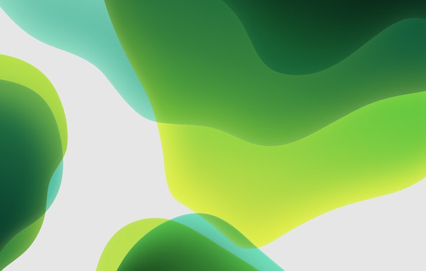 Picture green, white, background, iOS 13