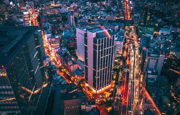 Picture night, the city, Tokyo