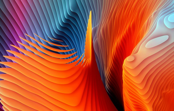 Picture colors, colorful, Abstract, rendering, digital art, shape, color artwork