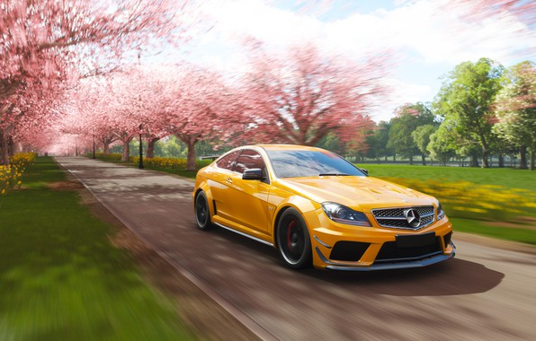 Picture Mercedes-Benz, Microsoft, game, AMG, Coupe, 2018, C63, Forza Horizon 4