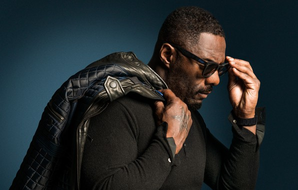 Picture pose, glasses, actor, profile, actor, glasses, Idris Elba, Idris Elba, profile, posture, jacket on the …