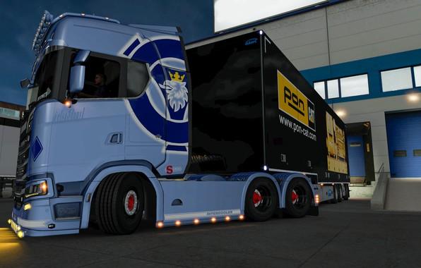 Picture Power, Truck, low, Scania, Trailer, Highline, 6x4, CAT, SUPER, EuroTruckSimulator, elsa3dany1, ERTY, ETS, S-U-P-E-R, ERTY-FTW, …