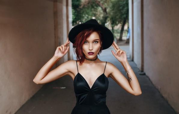 Picture girl, hat, Alexander Drobkov-Light, Marie Larin