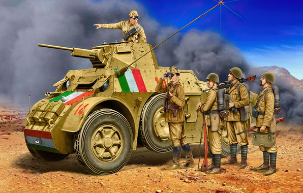 Picture war, art, painting, tank, ww2, MB35