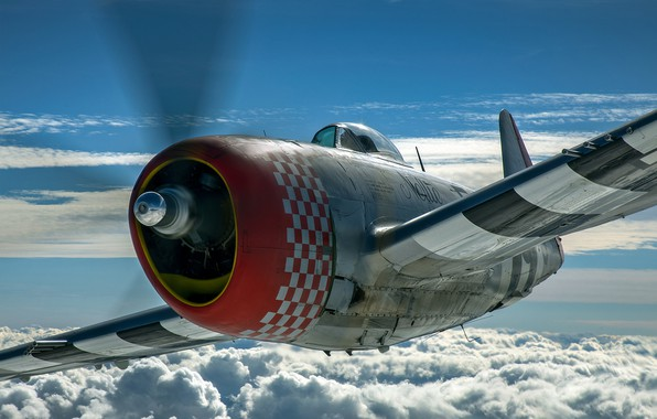 Picture Thunderbolt, USAF, Fighter-bomber, The Second World War, P-47D Thunderbolt, P-47 Thunderbolt, Republic P-47D Thunderbolt