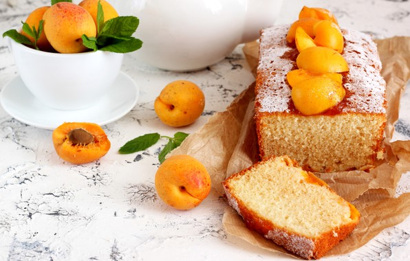 Picture mint, cupcake, apricots