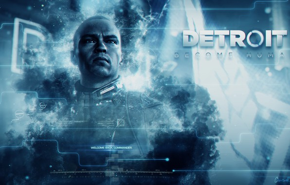 Picture blue, the game, game, Android, android, blue, the leader, Detroit, Detroit, Detroit Become Human, Marcus, ...