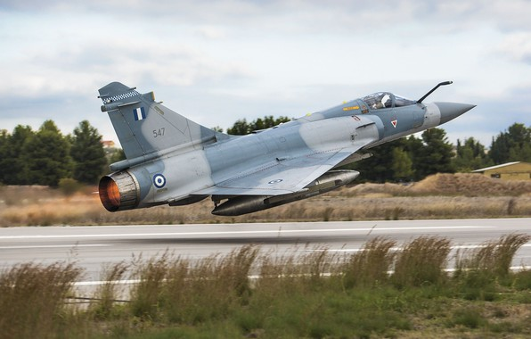 Picture Grass, Trees, Fighter, The fast and the furious, Mirage 2000, Greek air force, Hellenic Air …