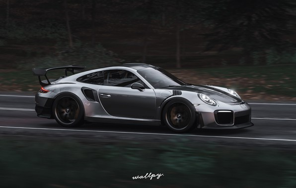 Picture 911, Porsche, Microsoft, GT2 RS, game art, Forza Horizon 4, by Wallpy