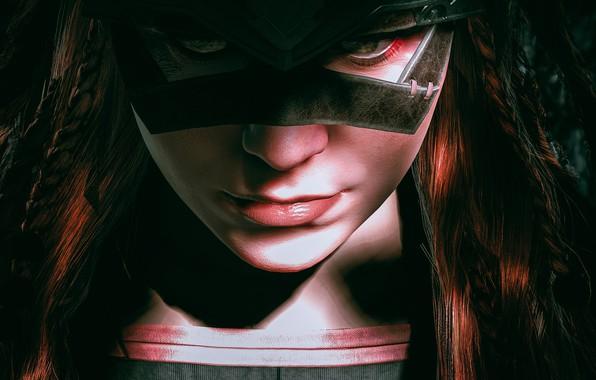 Picture look, girl, face, mask, Aloy, Horizon Zero Dawn