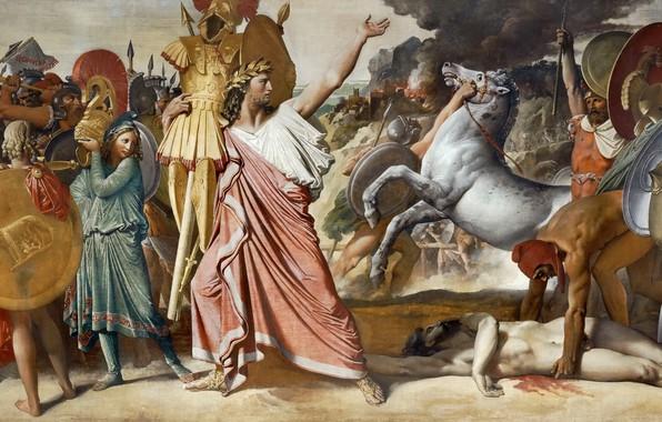 Picture 1812, Jean Auguste Dominique Ingres, Romulus winner of Acron