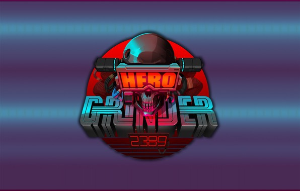 Picture Skull, Background, Hero, Art, Concept Art, Cyberpunk, Grinder, Cyberpunk, Minimalis, by Luke Viljoen, Luke Viljoen, …