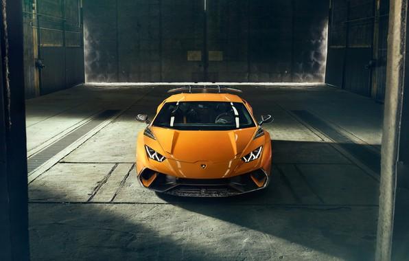 Picture Lamborghini, front view, 2018, Performante, Novitec, Huracan