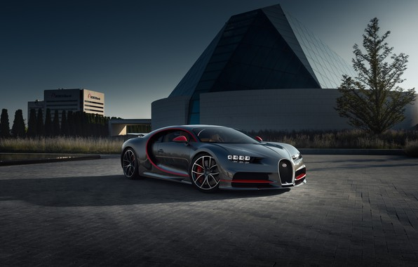 Picture Bugatti, supercar, hypercar, CGI, Chiron, 2019