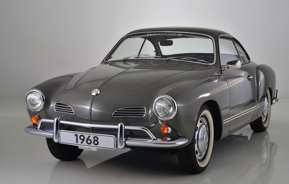 Photo wallpaper grey, background, Volkswagen, 1968, Karmann Ghia