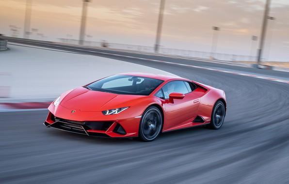 Picture road, machine, Lamborghini, red, Lamborghini, Lamborghini Huracan EVO