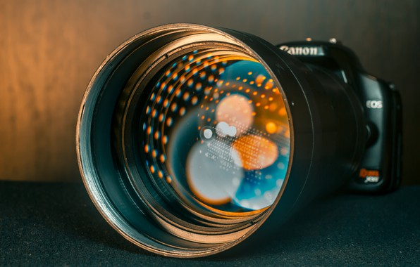 Picture light, reflection, photo, the camera, lens, lens, canon, bokeh