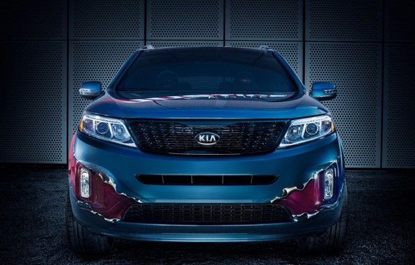 Picture front view, Kia, crossover, 2014, Sorento, Justice League