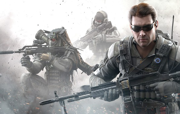Picture weapons, the game, glasses, game, call of duty