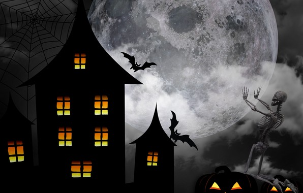 Picture night, house, Halloween, 31 Oct