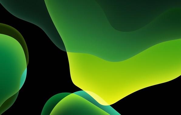 Picture green, dark, background, iOS 13