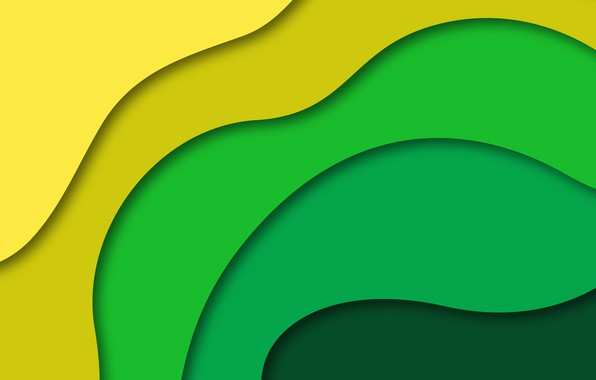 Picture line, yellow, abstraction, green, background, geometry
