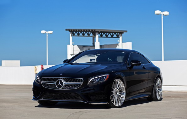 Picture Mercedes, Sky, Black, Coupe, S-class, W222