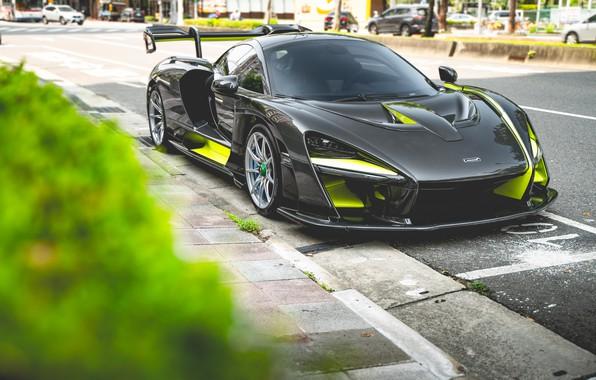 Picture black, sports car, McLaren Senna