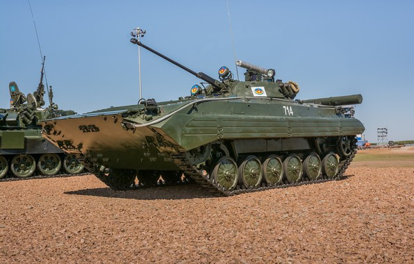 Picture polygon, BMP-2, The Russian Army, exhibition of military equipment