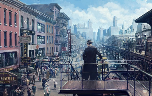 Picture Clouds, The city, People, The building, Art, Mafia, Definitive Edition, Signs, Hangar 13, Mafia: Definitive …