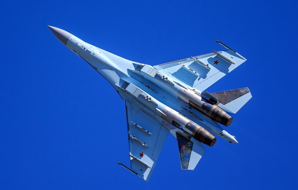 Picture fighter, flight, Su-35, multipurpose