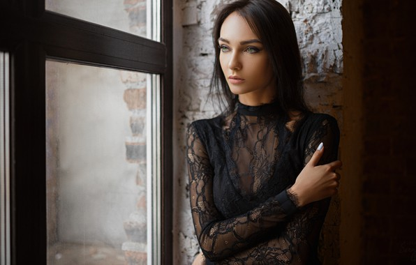 Picture look, girl, pose, hand, portrait, window, Xenia, Sergey Fat, Sergey Zhirnov