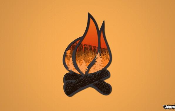 Picture forest, the game, logo, the fire, symbol, bumps, Stalker, group, Survarium, tramps, survarium