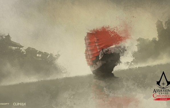 Picture China, game, Assassin's Creed, ship, digital art, artwork, Assassin's Creed: Chronicles