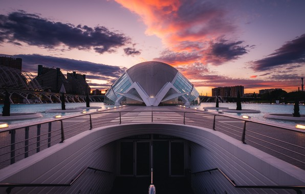Picture spain, architecture, valencia, Symmetry
