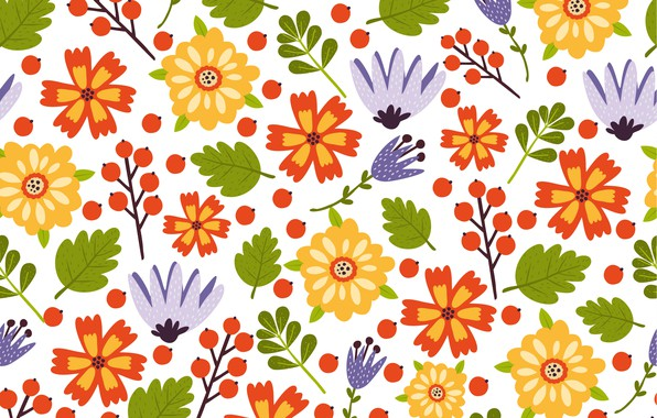 Picture flowers, colorful, summer, flower, pattern