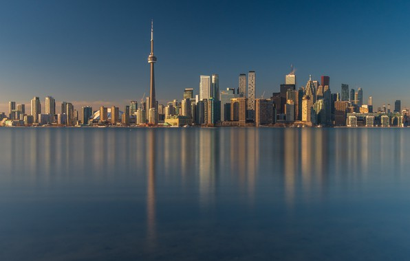 Picture water, building, tower, Canada, Toronto