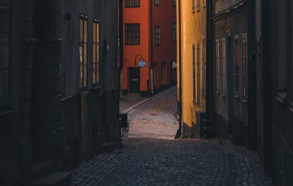 Picture city, wallpaper, street, stockholm, buildings, sweden, cobblestones
