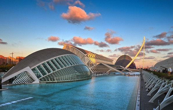 Picture Spain, Valencia, the architectural complex, The city of arts and Sciences
