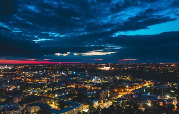 Picture night, the city, Lithuania, Kaunas