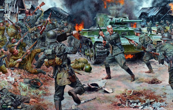 Picture war, battle, the Caucasus, the Wehrmacht, the red army, Kuban 1943
