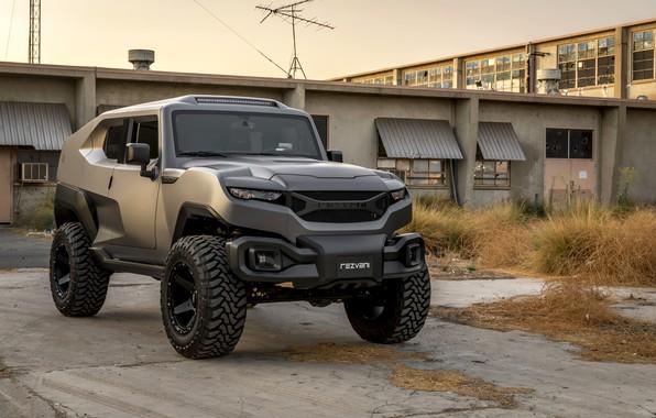 Picture SUV, industrial zone, 2017, Rezvani, Tank V6