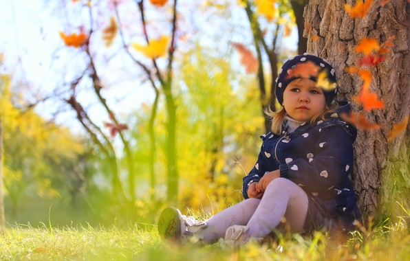 Picture autumn, nature, child, girl