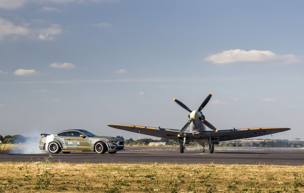 Picture Ford, Screw, 2018, Supermarine Spitfire, RAF, WFP, Royal air force, Mustang GT, Chassis, Eagle Squadron
