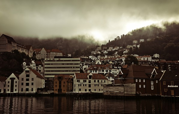 Picture the city, dawn, Norway, panorama