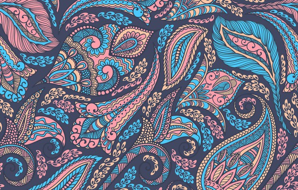 Picture background, ornament, Paisley