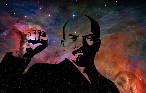 Picture future, stars, USSR, Lenin, communism
